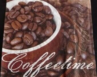 Napkin coffetime coffee beans