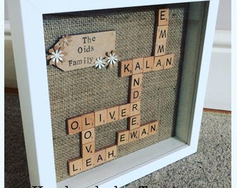 Personalised Scrabble Frame With Extra Details