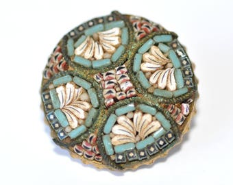 Vintage early 1900's exquisite Micro Mosaic Brooch