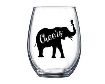 Elephant Wine Glass / Elephant Cheers Wine Glass