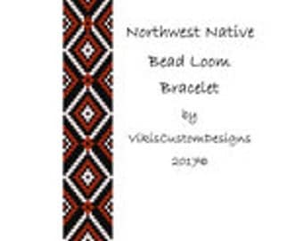 Northwest Native Bead Loom Bracelet Pattern by VikisCustomDesigns
