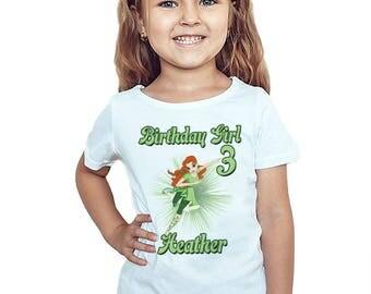 Poison Ivy Birthday T-Shirt Custom Name Age Super Hero Girls Birthday Personalized Shirt