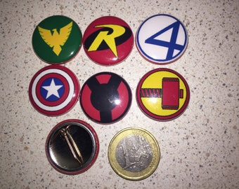 6 badges super hero badges (serie5)