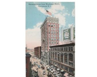 RHODE ISLAND: Dorrance Street from Webosset Street, Providence. Vintage Divided Back Postcard, 1907-1914