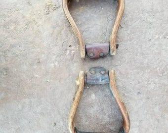 Old wooden stirrup
