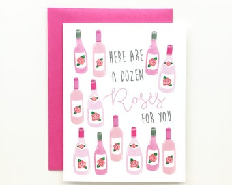 A Dozen Rosés - Birthday Card, Love Card, Anniversary Card