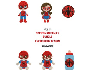 Spiderman Embroidery Designs | Machine Embroidery Design | Superhero Full Filled Embroidery | Spiderman Logo Images | Family Embroidery
