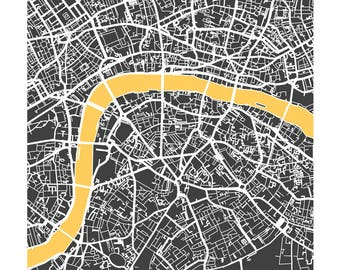 London - Giclée City Maps Series