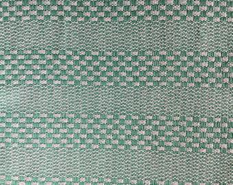 Mint green & white Handwoven Dish Towel