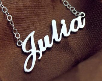 Name Necklace,Gold,Rose gold,Silver Custom Name Necklace, Celebrity Necklace, Name Jewelry, Best Gift For Girls