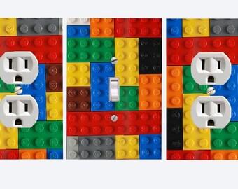 Lego  Lightswitch Cover U0026 Outlet Set  Lego Blocks Room Decor