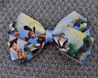 Toy Story Hair Bow - Hair bow for girl, Disney hair bow, Toddler hair bow, Hair bow, Hair bow for little girl, Hair clip for toddler, Bow