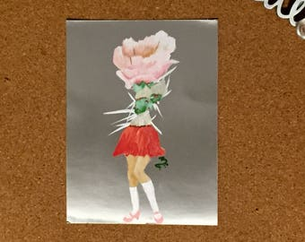 Gorgeous Hand Painted Postcard - School Girl