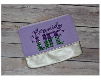 Mermaid Life Canvas Accessory Bag
