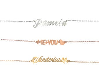 Necklace with your name or the word you love in silver 925 Made in Italy.
