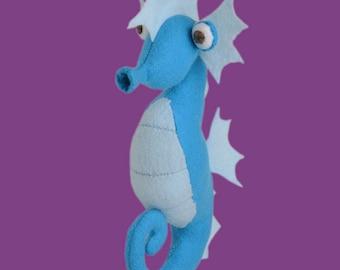 DIY plush felt seahorse sewing kit