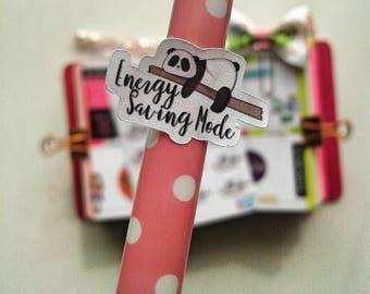 Energy Saving Mode Planner Stickers, Panda, 2 dollar stickers