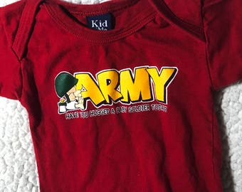 """Red """"Army"""" Puppy Shirt"""