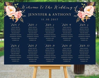 Navy seating chart, wedding seating chart poster, Wedding seating chart alphabet, Wedding seating chart template, seating chart, #104