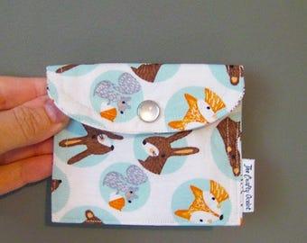 Coin Purse - Coin Pouch - Cute Coin Purse - Change Wallet - Card Wallet- Pearl Snap Coin Pouch - Birth control case