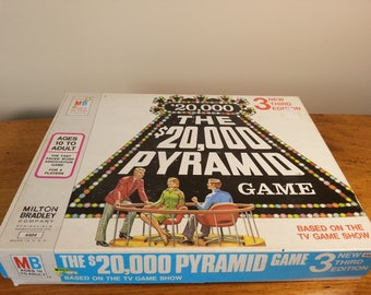 Vintage The 20000 Pyramid Game Third Edition 1974 Milton Bradley Games Vintage TV Game Shows Game Television Game Shows Retro Family Games