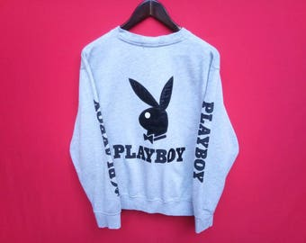 vintage playboy sweatshirt big logo medium mens size