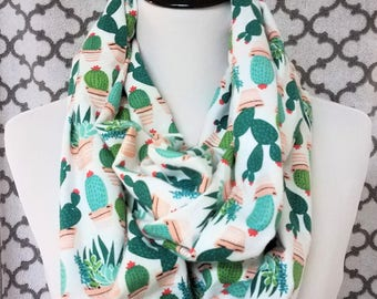 Pretty and Prickly Cactus Infinity Scarf