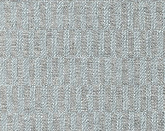Greenish/Gray Linen-Cotton fabric by the yard - woven in Europe - Medium Weight Patterned Textile