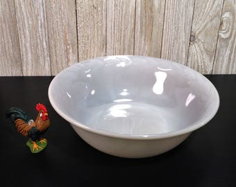"Fire King Gray Laurel, 8 1/4"" Fire King Gray Laurel Serving Bowl, Vegetable Bowl, Gray Lusterware, 1950s Anchor Hocking Fire King Gray Bowl"