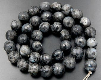 discount -10% Faceted Labradorite Beads, Blue Gemstone Beads, Round Natural Beads, Faceted Beads, 2mm 3mm 4mm 6mm 8mm 10mm 12mm 14mm