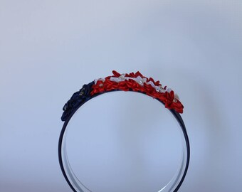 red/ white/blue headband