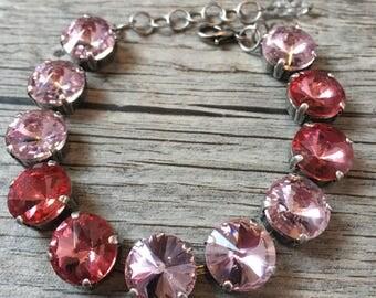 Vintage & Light Rose Swarovski Bracelet