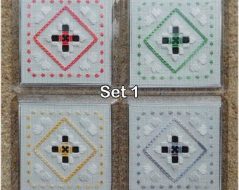Embroidered coasters (set of 4)