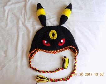 Umbreon Crochet Hat