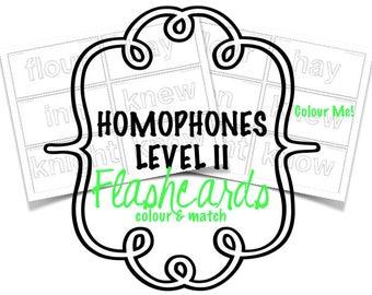 Homophones - Flashcards - Level IIc