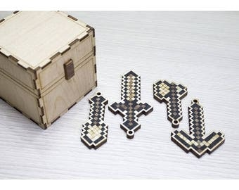 Minecraft chest with tools (unofficial) handmade