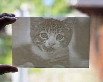 3D printed photograph 10x15cm