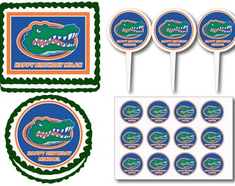 Florida Gators Edible Cake Topper
