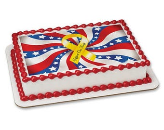 Support our Troops Edible Frosting Sheet - 1/4 Sheet