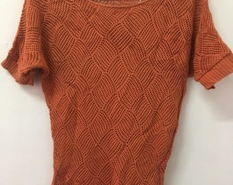 Knit Top Hand Made Vintage 90's FREE SHIPPING !!!