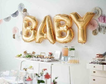 "Huge 40"" BABY Gold Foil balloons. Baby Shower and Birthday, Party Decorations...etc..."