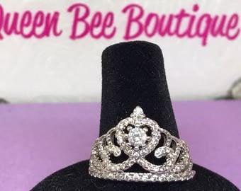Royal Crown Ring Sz 8