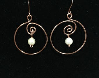 Copper hoops
