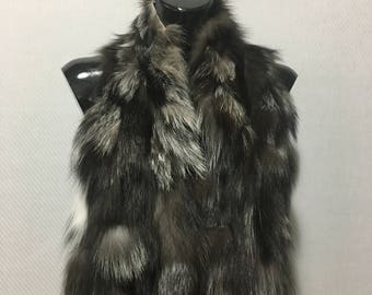 Silver Fox  Fur Collar- Scarf