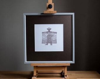"Serigraphy print ""Linen cloth"""