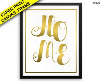 Home Prints Home Canvas Wall Art Home Framed Print Home Wall Art Canvas Home Family Art Home Family Print Home home printable gold quote
