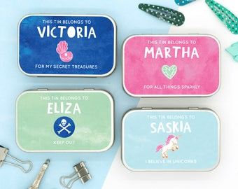 Personalised Keepsake Tin for the Girls