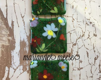 Flowers 3-piece Suncatcher