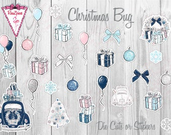 Christmas Bug - Die Cuts / Sticker Set