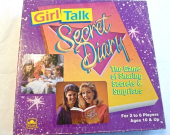 1991 Vintage Girl Talk Secret Diary Game Sharing Secrets & Surprises Complete Slumber Party Birthday Game